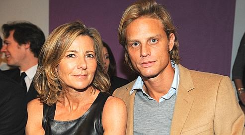 Claire Chazal and Arnaud Lemaire  at the Dior's Spring Summer 2010 Haute Couture fashion show in Paris, France, on January 25, 2010. Photo by Thierry Orban/ABACAPRESS.COM